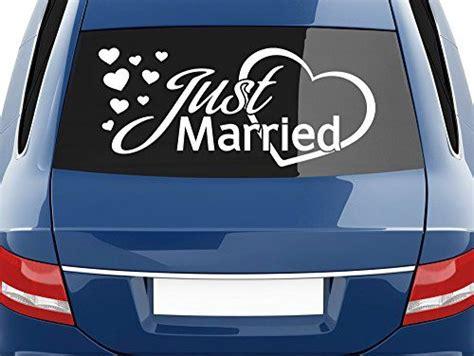 Aufkleber Heckscheibe Just Married by Heckscheiben Auto Aufkleber Autoaufkleber Tuning Sticker
