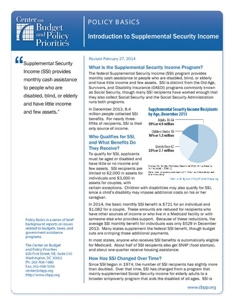 supplemental w 9 introduction to the supplemental security income ssi
