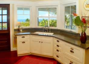 Kitchen Designs With Corner Sinks With A View Like This Working At The Corner Sink In Kitchen Can Never Be A Bore Decoist