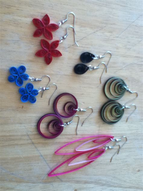 How To Make Easy Paper Earrings At Home - quilling nerdgirlblogging