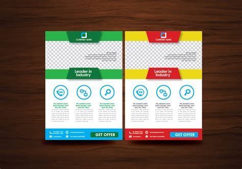 free template for flyer design vector brochure flyer design layout template vector