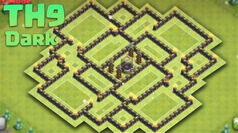 best th9 hybrid base 2016 clash of clans town hall 9 th9 dark elixir saving