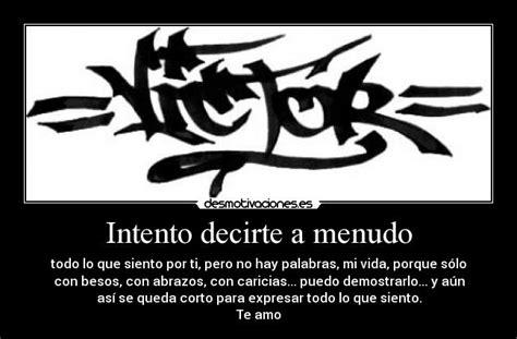 imagenes te amo victor 2 graffitis victor 3d imagui