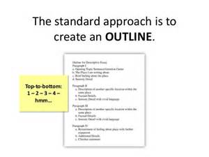 How To Write An Outline For A Narrative Essay by The Standard Approach Is To