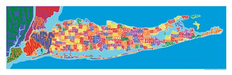Home Design Shows Nyc by Long Island Town Type Map Poster I Lost My Dog