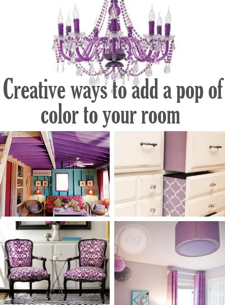 how to add color to a room diy home sweet home creative ways to add a pop of color