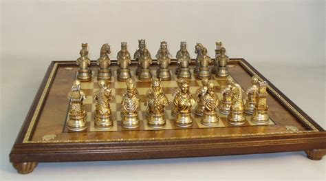 chess set pieces camelot pewter chess set