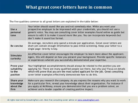 consulting cover letters consulting cover letter exles