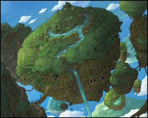 The Floating Island floating islands by karbo on deviantart