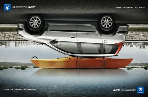 the world of creative advertising 187 peugeot ready for the