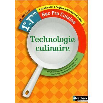 technologie cuisine bac pro technologie culinaire 1 232 re term bac pro cuisine livre de l