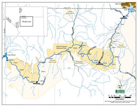map grand colorado river map of colorado river in grand