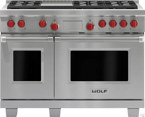 Cooktop Knob Wolf Df486g 48 Inch Pro Style Dual Fuel Range With 6 Dual