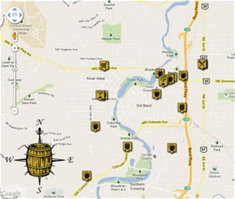 map of oregon breweries the bend ale trail bend oregon