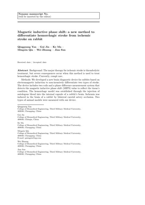 Springer Annals Of Operations Research Template Springer Template