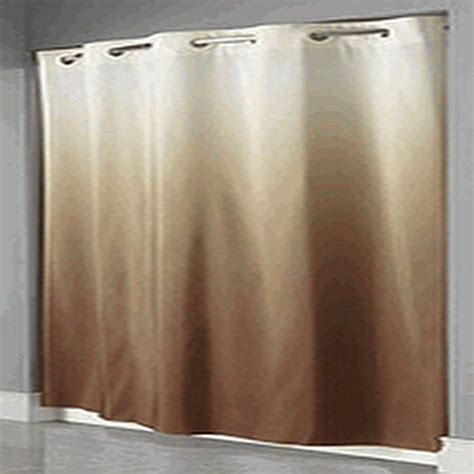 brown hookless shower curtain hookless graduate ombre hotel beige brown color shower