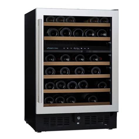 wine room cooler wine enthusiast n finity pro s dual zone 46 bottle 23 75 in wine cellar stainless steel door