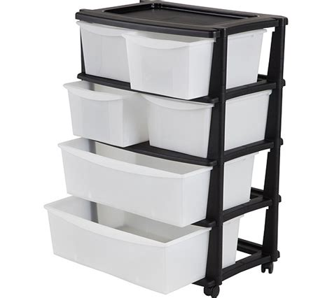 7 drawer plastic wide storage chest buy home 6 drawer plastic wide tower storage unit black