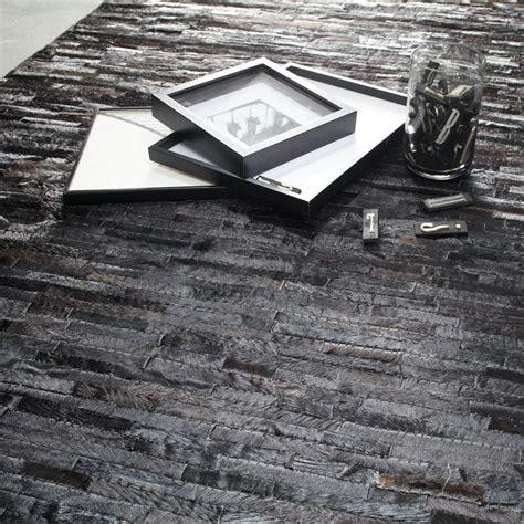 alfombra negra alfombra negra arty 200x300 maisons du monde