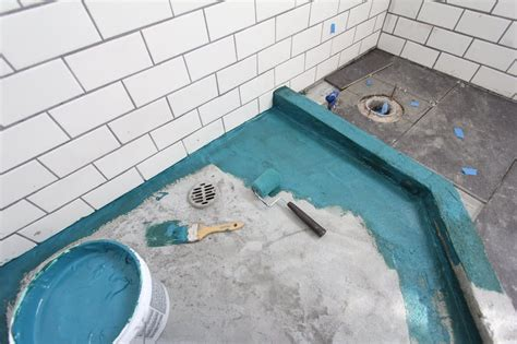 diy bathroom renovation how to build a custom tiled how to build a shower pan apartment therapy