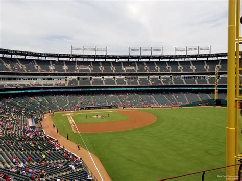 section 245 a globe life park section 245 rateyourseats com