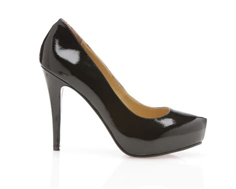 leather high heels new womens black leather high heel patent platform