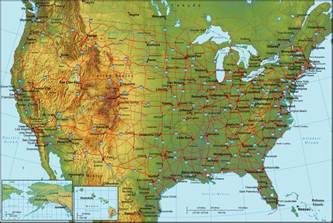 map of the united states with interstates and cities geografia dos estados unidos infoescola