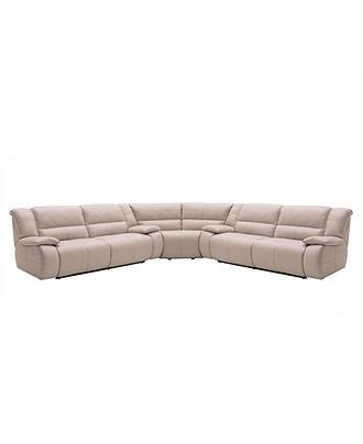 Franco Leather Reclining Sofa Franco Leather Reclining Sectional Sofa 3 Power Recliner 2 Sofas And Wedge 147 Quot W X 147