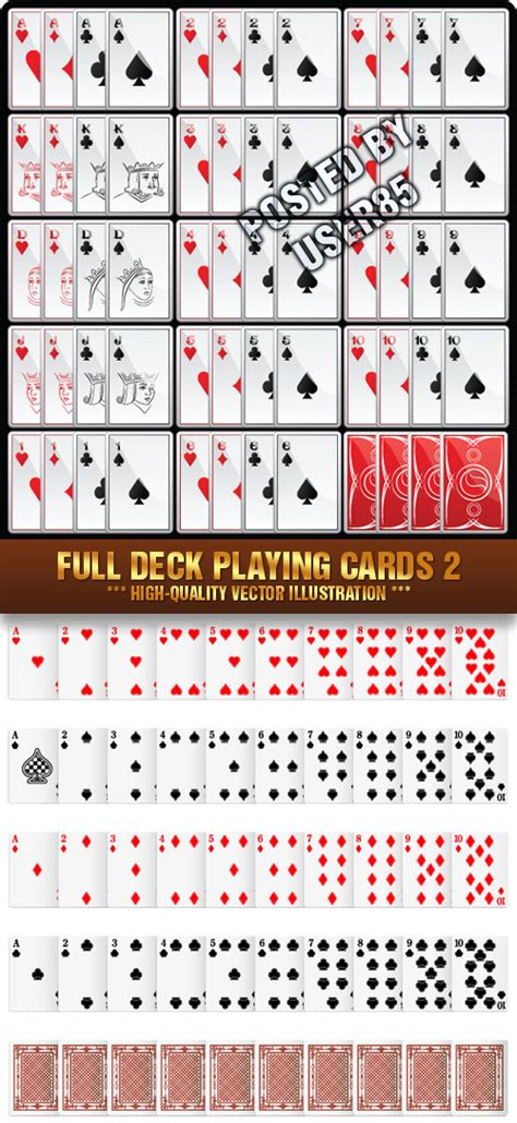 deck sp card template photoshop stock vector deck cards 2 187 vector