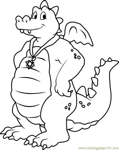 dragon tales ord blue male dragon coloring page free