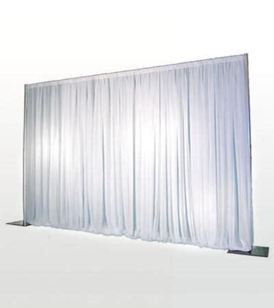 white pipe and drape decor pipe drape white walker lewis rents