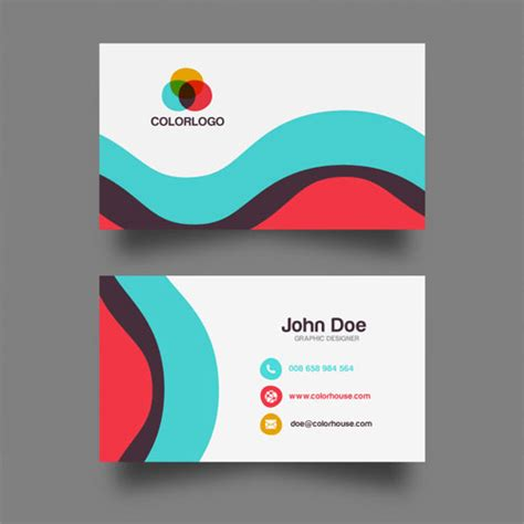 Free Business Card Design Template by 50 Magnificent Free Business Cards Design Templates