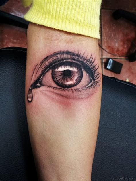 crying tattoo 61 mind blowing eye tattoos on arm