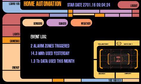 trek lcars interface for raspberry pi using pygame
