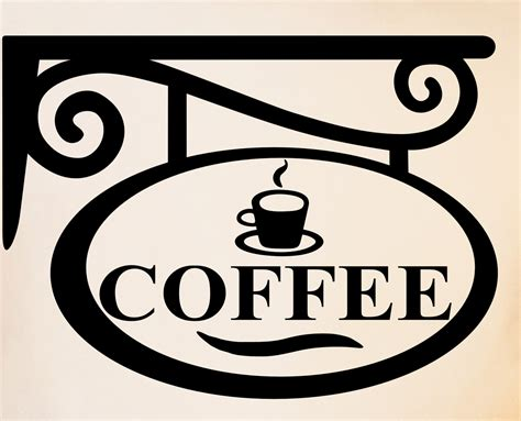 Coffee Sign Wall Decal Kitchen Decor Wine Decal Diy Home Decor Coffee Signs Kitchen Decor