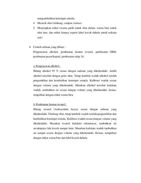Salep Rivanol by Petunjuk Teknis Apotek Berdasarkan Sk Menkes 10272004