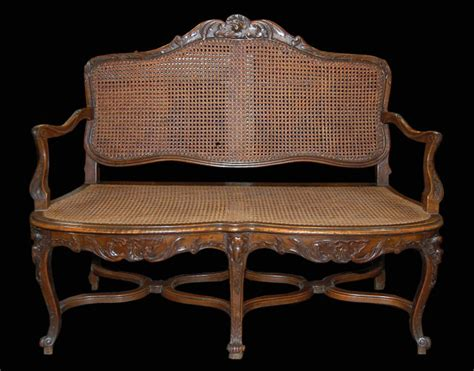 french provincial settee french provincial walnut settee for sale antiques com
