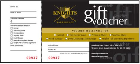 Cool Barbershop Gift Voucher Template Sle With Black And Gold And White Color Combination And Barber Shop Gift Certificate Template