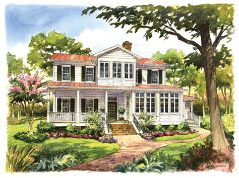 vintage lowcountry print southern living house plans