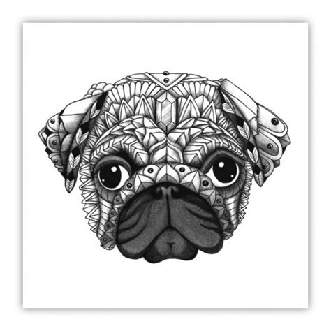 enlightened pugs coloring book books pug zentangle breeds picture