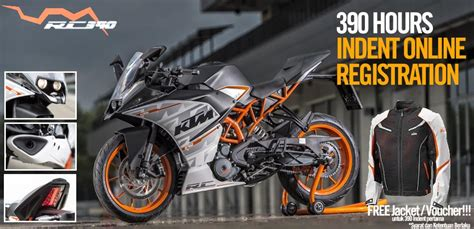 Ktm Booking Ktm Rc390 S Bookings Open In Indonesia For 390 Hours
