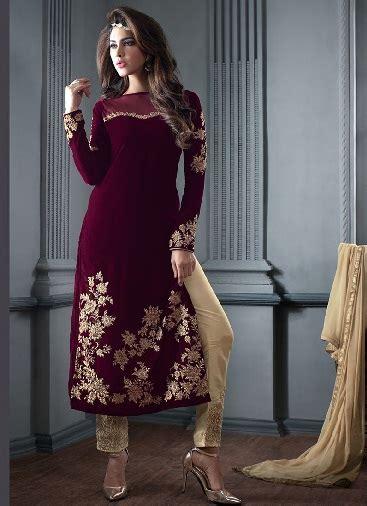 beautiful attractive velvet salwar suits  ladies