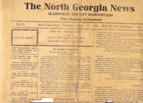 Union County Ga Records Union County News 1945
