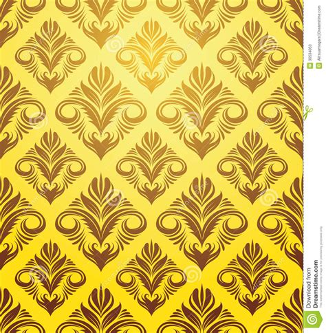 indonesian pattern free vector gold yellow ornament pattern stock vector image 30534053