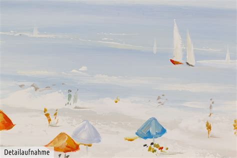 strand themenb der acryl gem 228 lde strandkorb meer ostsee handgemalt