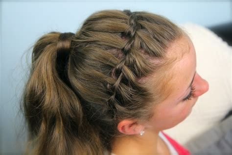 cute hairstyles headband braid waterfall braid headband combo braided hairstyles cute