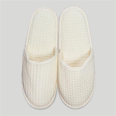 bulk spa slippers slippers beige closed toe waffle slippers
