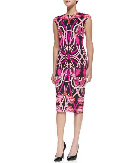 Safiya Dress ted baker safiya cap sleeve printed midi sheath dress