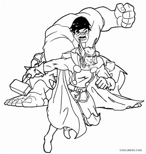 free coloring pages of thor super hero squad