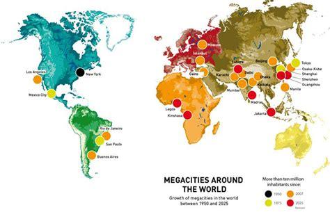 megacities world map megacities map megacities